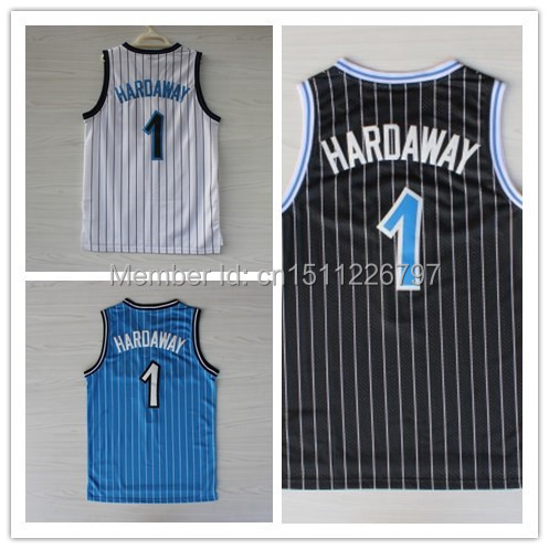 Orlando #1 Penny Hardaway Basketball Jersey, Embroidery Logos Retro Jersey Mix Order - jerseys store