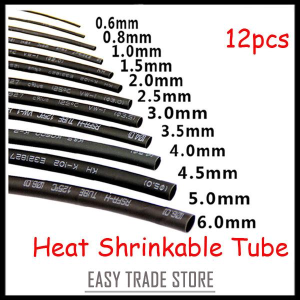 New sizes black heat shrink tubing kit