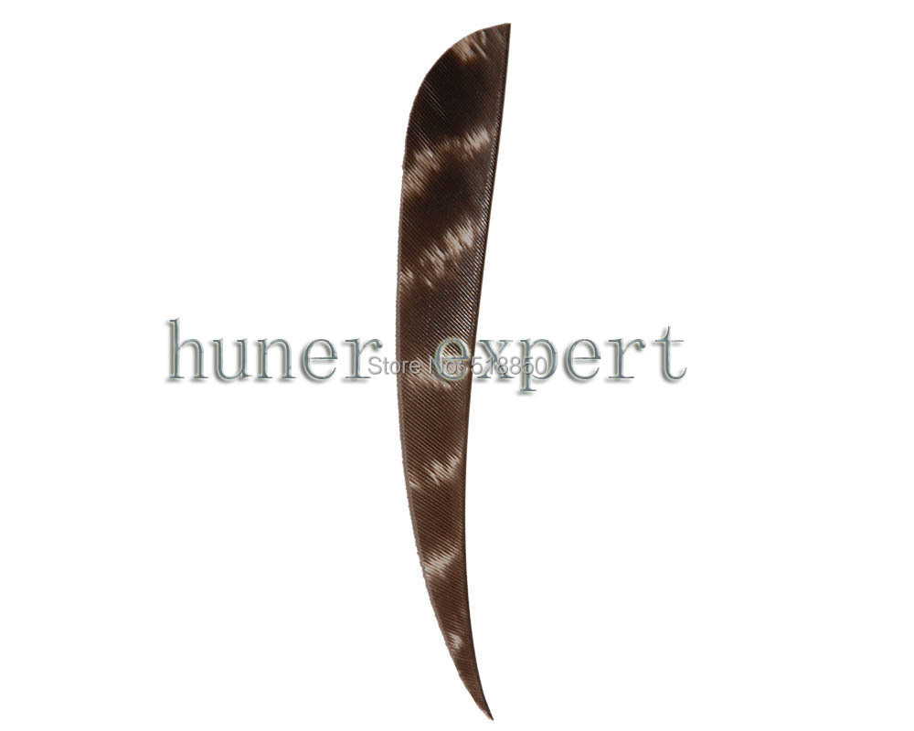 bow hunting arrow archery feather parabolic turkey feather 4'' fletching bamboo arrow left wing 200pcs free shiping