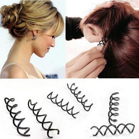 20pcs/lot Black Wedding Hairclips Women Spiral Barrette Spin Screw Hairpin Hair Twist Tools(China (Mainland))