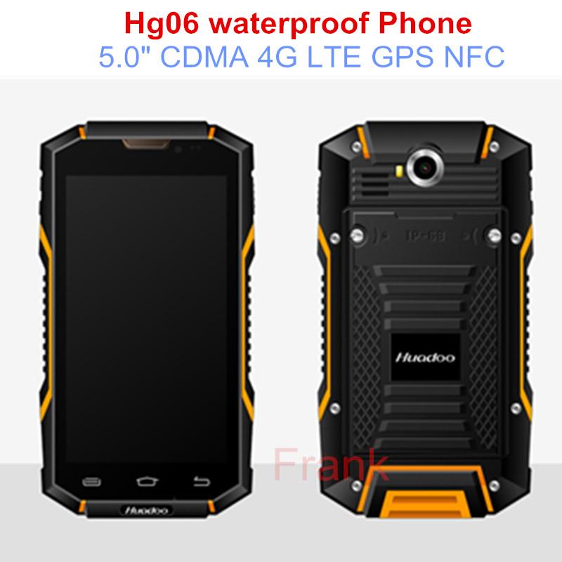 "Original HG06 IP68 Waterproof Phone unlocked 6000mAH MTK6735 Quad core phone Android 5.1 5.0"" CDMA 4G LTE GPS NFC HG04 S6 S8 5s(China (Mainland))"