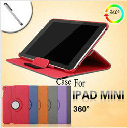 luxury jean case for ipad mini 360 degrees rotating cover for ipad mini wallet leather with free touch pen holiday sale novelty