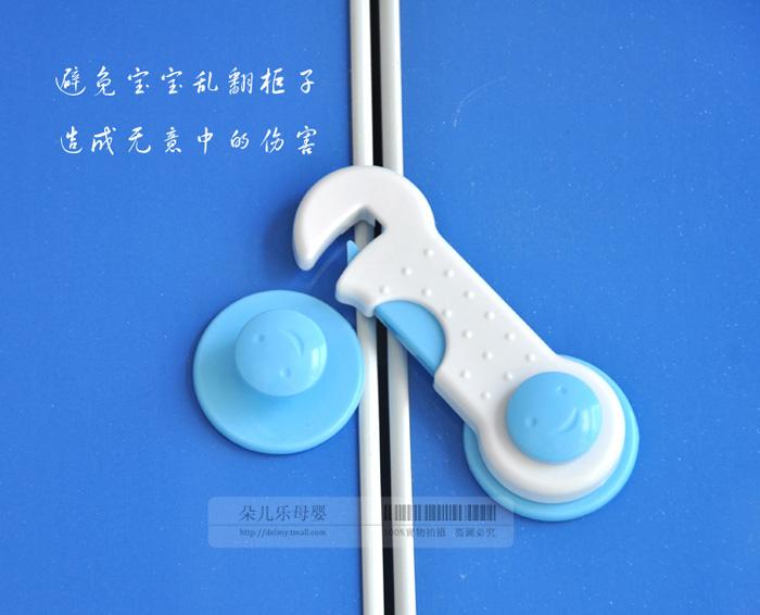2 X Cute Children Toddler Kids Baby Safe Lock Door Drawer Corner Wardrobe Locker(China (Mainland))