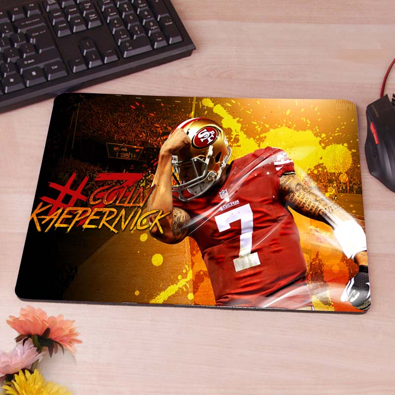 Colin Kaepernick 49ers Anti-Slip Rectangle Mouse Pad Customized Supported 220mmx180mmx2mm(China (Mainland))