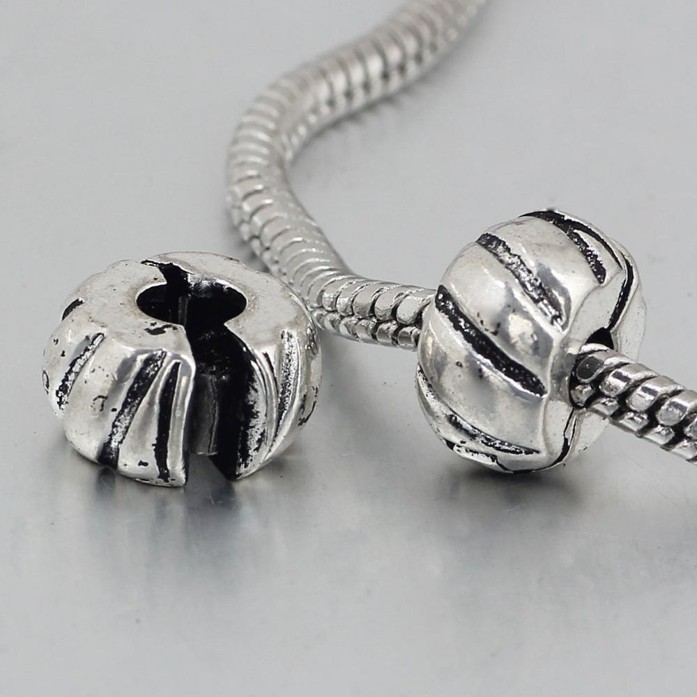 free shipping 1pc silver love clip heart stopper bead charm Fits European Pandora Charm Bracelets A153(China (Mainland))