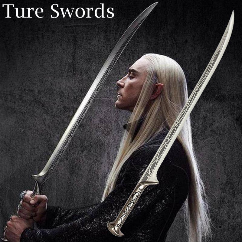 Купить фильм хоббит лезвия меча психического поделки властелин колец эльф король трандуиль косплей меч s1115020xd из Китая в Пен
