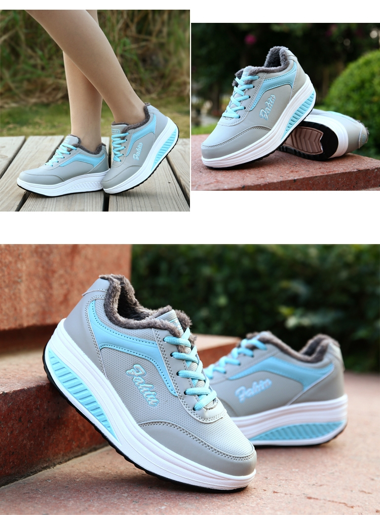 autumn winter casual shoes women platform shoes Mujer Body shaping fitness shoes fashion slimming Swing Shoes for female