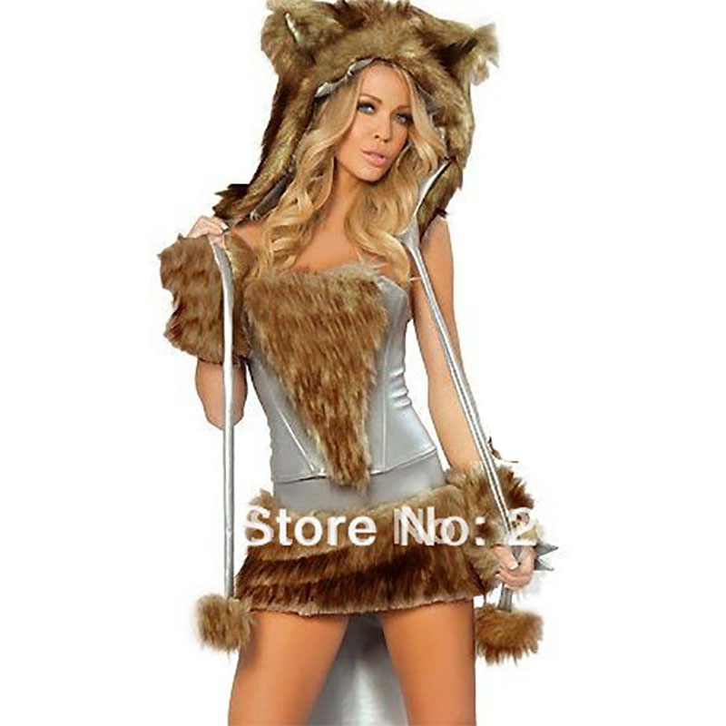 wolf girl costume animal cosplay halloween costume - Halloween Costumes Wolf