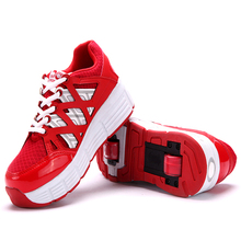 New Children Heelys Kids Sneakers With two 2 Wheels Boys Girls Skate Invisible Button Roller Shoes Ultra-Light Men Women Shoes