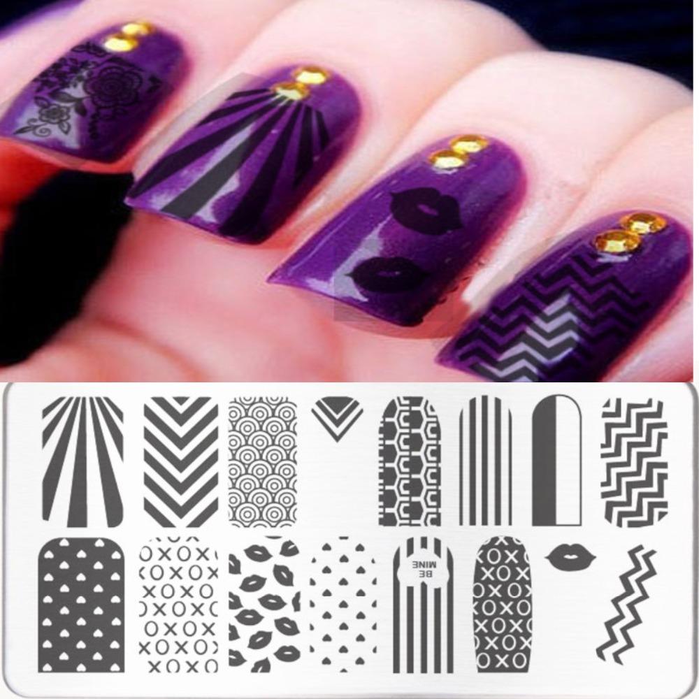 Women DIY Nail Art Templates Fashion Stamping Plates Nail Art Templates Stencils Salon Beauty Polish Tools 16 Styles for Choice(China (Mainland))