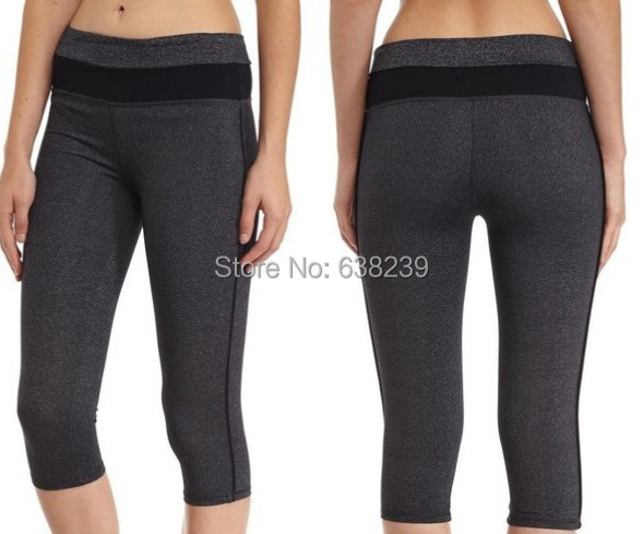 Women Running Tights Sports Pants Jogging Capris Lycra Compression Fitness Exercising GYM Quick Dry Trousers - Guangzhou Outdoor New Empire Trading Co., LTD store