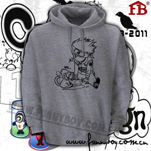 Naruto Hatake Kakashi moniker Copy Ninja Sharingan Sixth Hokage couple clothes woman fleece sports hoodies(China (Mainland))