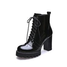 MORAZORA 2019 hohe qualität aus echtem leder stiefel frauen lace up herbst winter stiefeletten für frauen plattform high heels stiefel(China)