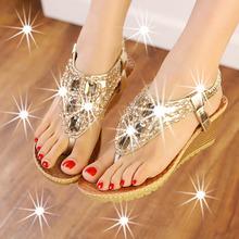 Women shoes sandalias mujer women sandals 2015 new fashion beading wedges shoes for women sandals women shoes