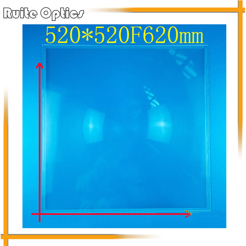 520x520mm Square PMMA Big Fresnel Condensing Lens Plastic Solar Energy Focal Length 620mm for Plane Magnifier,Solar concentrator(China (Mainland))