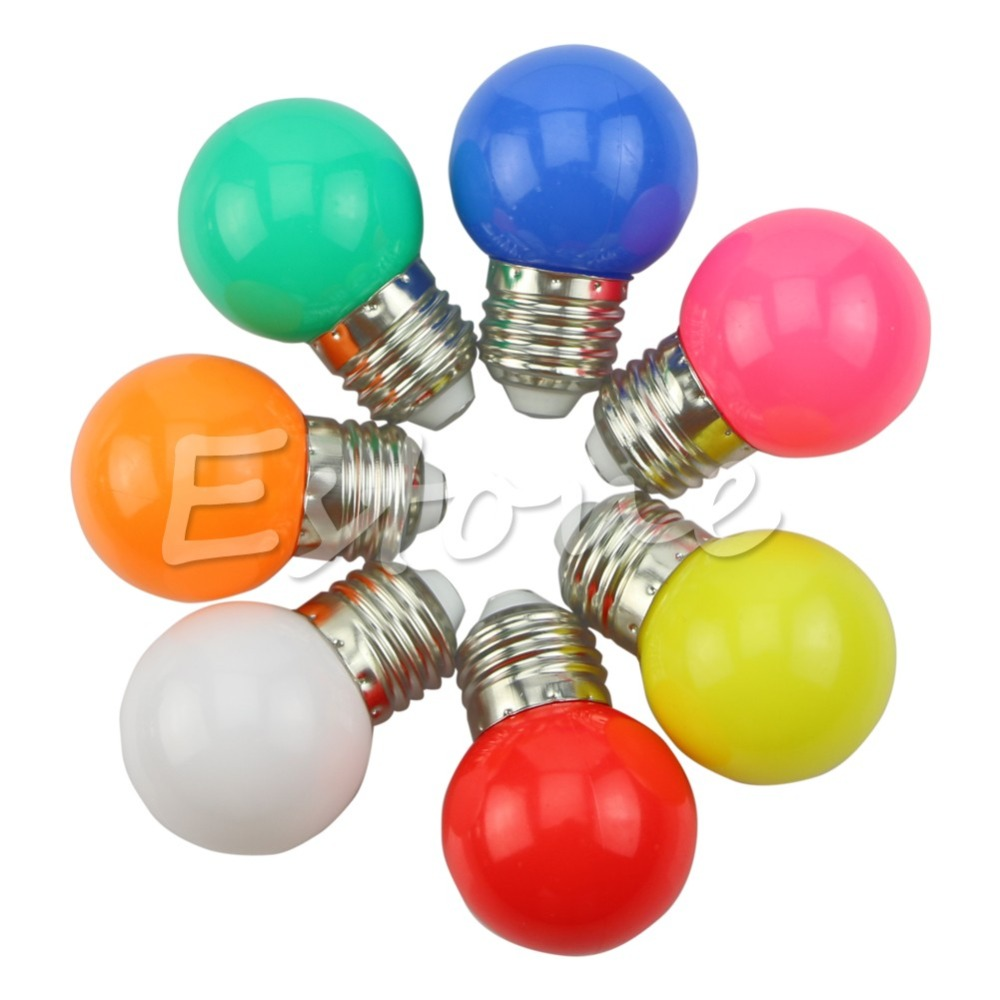 New for 1W E27 Coloured Round LED Golf Ball Light Bulb Lamp NEW<br><br>Aliexpress