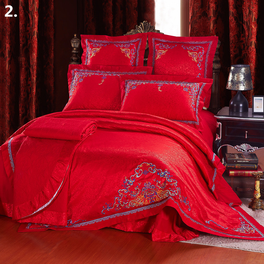 Classic Chinese Wedding Bedding Set King Queen Size