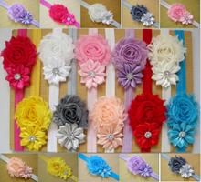Bébé bandeaux bébé chapeaux enfants fleur perle Infant Toddler fille bandeau Clips Hairband cheveux Band accessoires xth077,(China (Mainland))