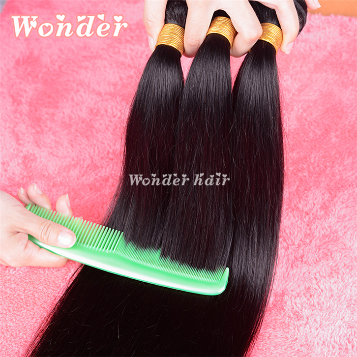 Rosa Hair Products Brazilian Virgin Hair Straight 3Bundles Lot Brazilian Straight Hair Weave Bundles Cheap Human Hair Very Soft(China (Mainland))