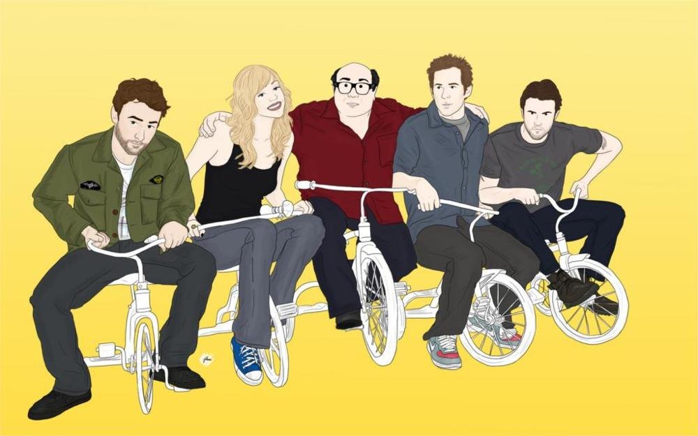 Always Sunny in Philadelphia Drawing Tricycle vector tv humor funny comedy actors actress Home Decorationr Canvas Poster Prints(China (Mainland))