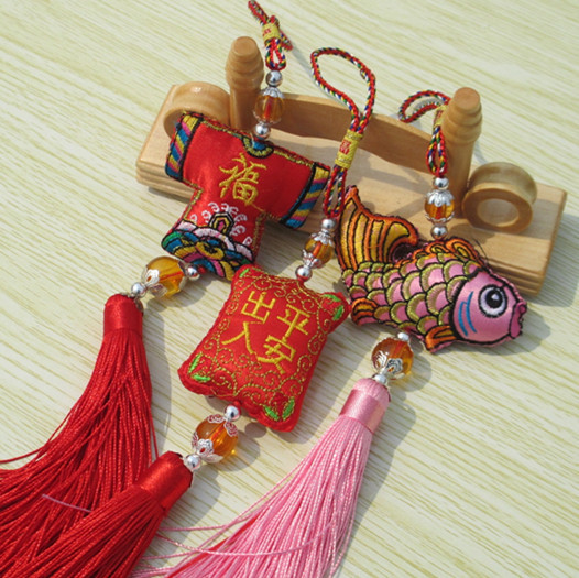 Dragon boat festival sachet chinese knot gift car pendant unique chinese style crafts unique