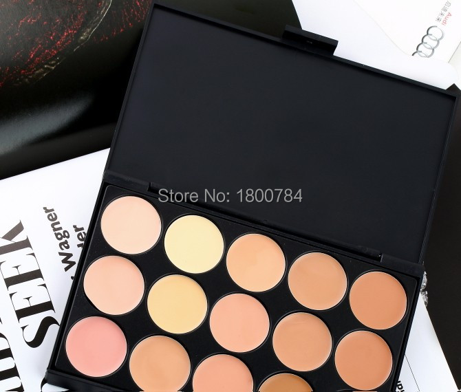Free shipping Maquiagem makeup Moisturizer Whitening the New 15 Color Concealer palette Foundation Cream 120sets/lot supply(China (Mainland))