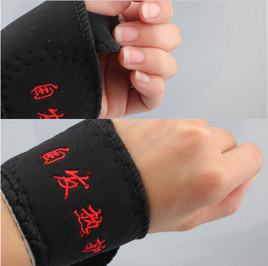 2 Pcs Magnetic Therapy Wrist Brace  Protection Belt Spontaneous Heating  free shipping(China (Mainland))