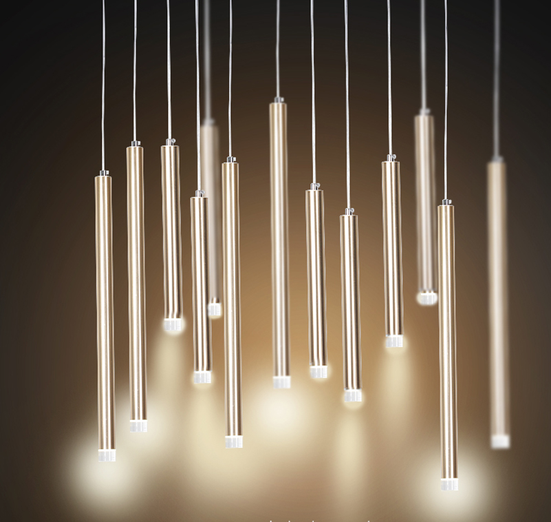 Pendant Light LED Single Lamp Long Bar Design Saving