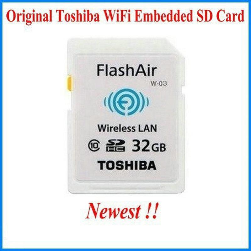WIFI download photo video to phone etc !!!!! Original TOSHIBA SD Card Real Capacity 8GB 16GB 32GB CLASS10 Memory Card for camera(China (Mainland))