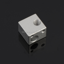 Free shipping 3D Printer Aluminium Heat Head Block for E3D RepRap Makerbot MK7 MK8 Extruder Nozzle