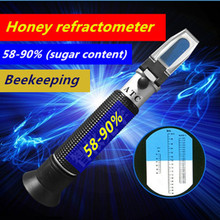 Bee Tools Honey refractometer 58-90% (sugar content) Beekeeping Refractometer Handheld honey concentration meter Free shipping(China (Mainland))