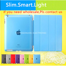 High quality! ultra slim mental magnetic of new ipad case cover for apple ipad 2 3 4 smart cover cases leather flip supper thin(China (Mainland))