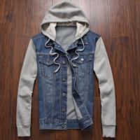Mens Winter Jeans Outwear Plus Size Hoodies Jean jacket Casual Fashion outwear Size m l xl xxxl xxxxl xxxxxl