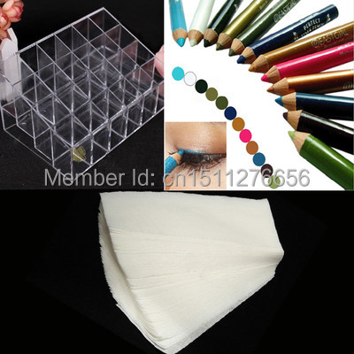 Display Holder Organizer + 100pcs Hair Removal Paper + 12 Color Eyeshadow Pen A1681+ A1690+ A1992 D2KIJ(China (Mainland))