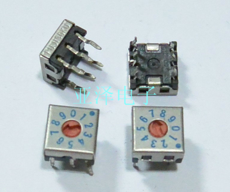 [bella]Japan FUJISOKU Fuji 0-9/10 bit 7.5 * 7.5 rotary dial switch DRS7110C inverted coding--20pcs/lot<br><br>Aliexpress