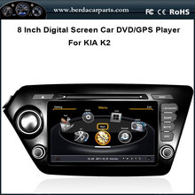 8Inch Touchscreen Car DVD GPS For KIA K2 2011-2012 With Radio RDS Bluetooth Ipod Free Map