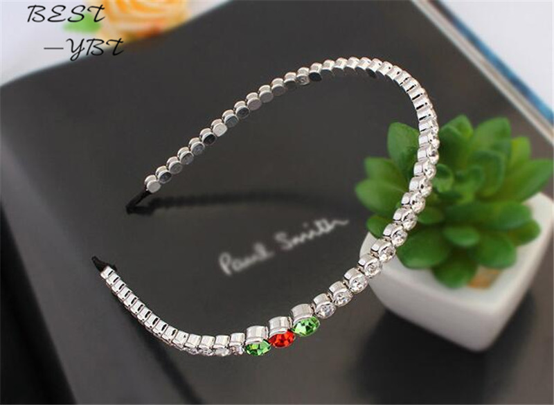 Woman Hair Accessories Hairband Made With Swarovski Elements Crystal Wedding Tiara For Bride Hairwear Jewelry White Gold Plated(China (Mainland))