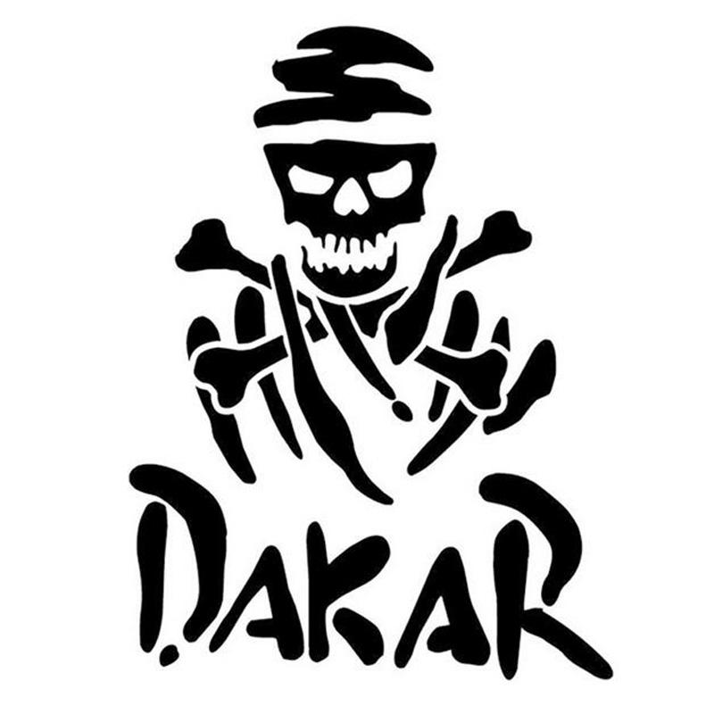 12.5*10CM DAKAR Rally Racing Fun Car Sticker Decal Motorcycle Car Styling Black/Silver C1-0067(China (Mainland))