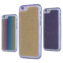 Shiny Silicone Glitter Cases For Apple iPhone 6 6s/6 plus 6s plus/5 5s SE/5C/4 4s Soft TPU Cover Colorful Foil Mobile Phone Bags