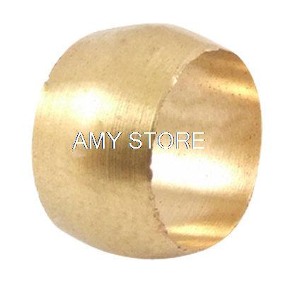 Brass Fitting Compression Sleeve Ferrule for 8mm Tube Tubing(China (Mainland))