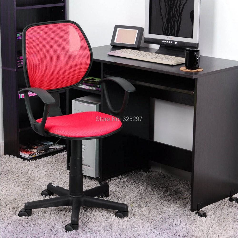 Simple RED Net Fabric Office Chairs Ergonomically Office Task Computer Chair
