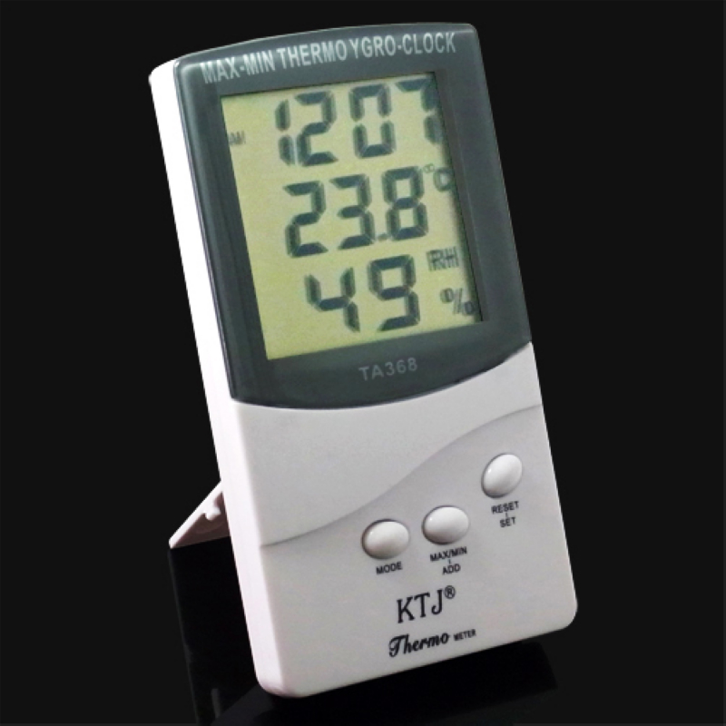 2015 New Hot 3 in 1 Home LCD Digital Indoor Outdoor Clock Thermometer Hygrometer Temperature Humidity Tester Meter Display(China (Mainland))