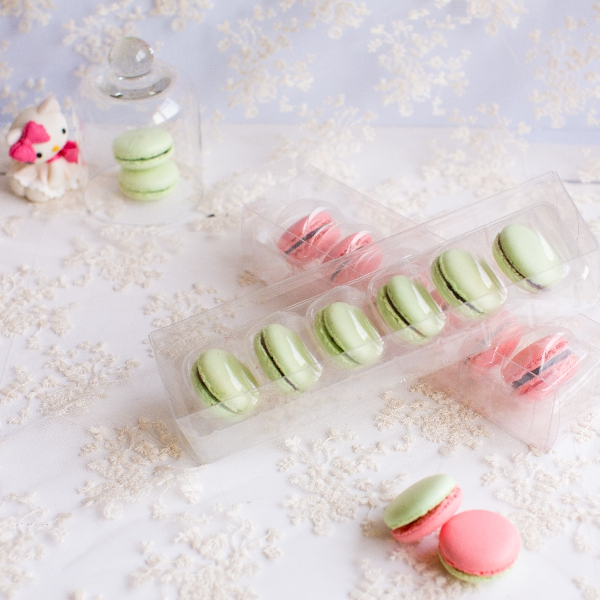 Macaron Wedding Gift Clear Plastic Cake Boxes For Gift Packaging Party Supplies and Cake Decoration 22.7*5.8*4.7CM(China (Mainland))