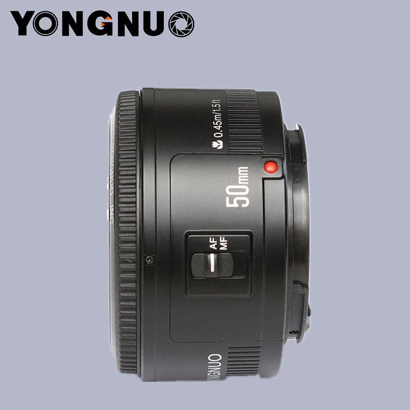 YONGNUO YN 50mm YN50MM <font><b>Lens</b></font> Fixed Focus <font><b>Lens</b></font> EF 50mm F/1.8 AF/MF Lense Large Aperture Auto Focus <font><b>Lens</b></font> For <font><b>Canon</b></font> DSLR Camera