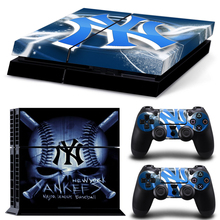2213 New YorkYan kees MLB Baseball Vinyl Anti-slip Host Decal Sticker &2pcs Controller Stickers Cases For Sony Playstation PS4
