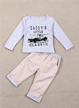 baby boy cotton clothing set baby baby clothing carters car t shirt Leisure pants Overalls clothing