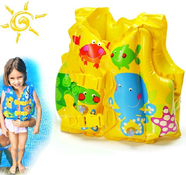 HIgh Quality Funny Fish Children Inflatable Swimming Life Vest Adjustable Kids Life Jackets(China (Mainland))