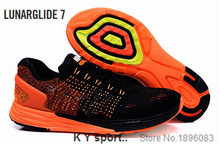 2015 NEW  1:1 flyknit LUNARGLIDE 7 sneakers hyperfuse max  breathable running shoes for women men  trainers 15 color size 35-44