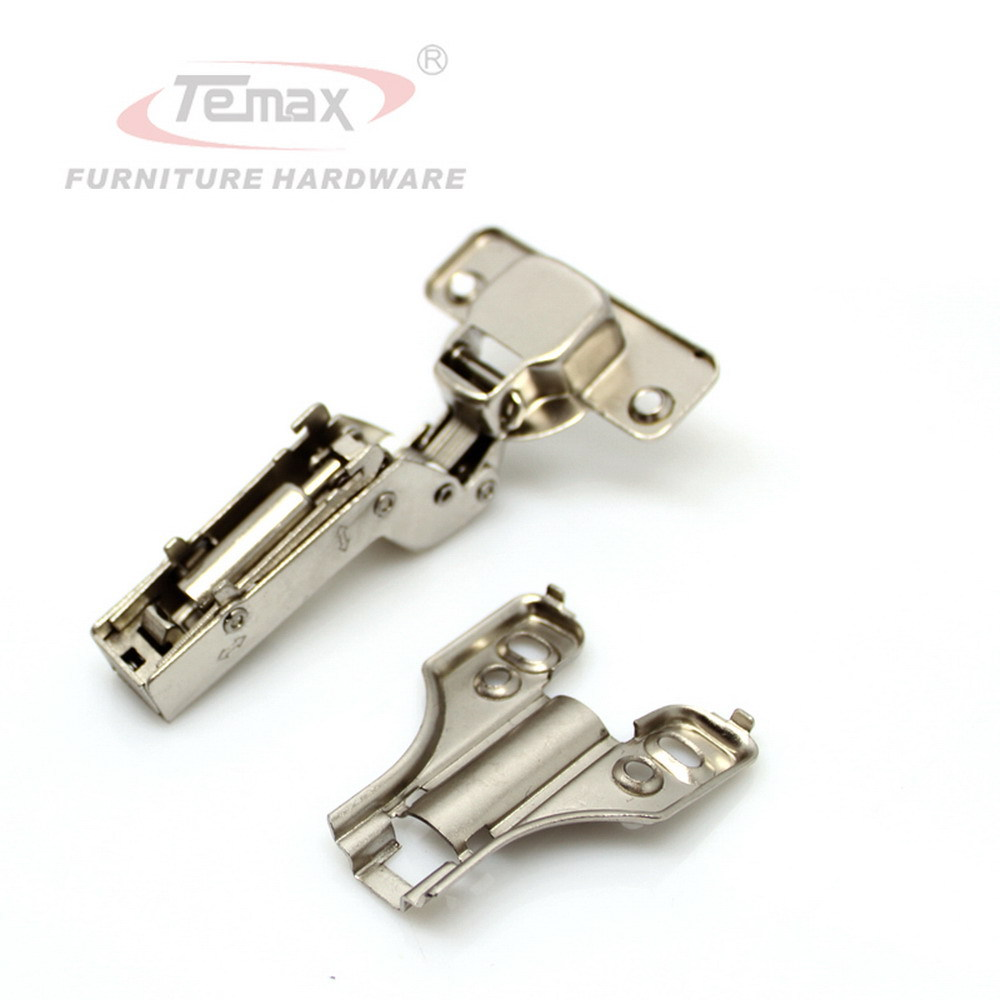2pcs SS304 Full Overlay Hydraulic Brass Buffer Nickel Furniture Kitchen Cabinet Gate door Hinge