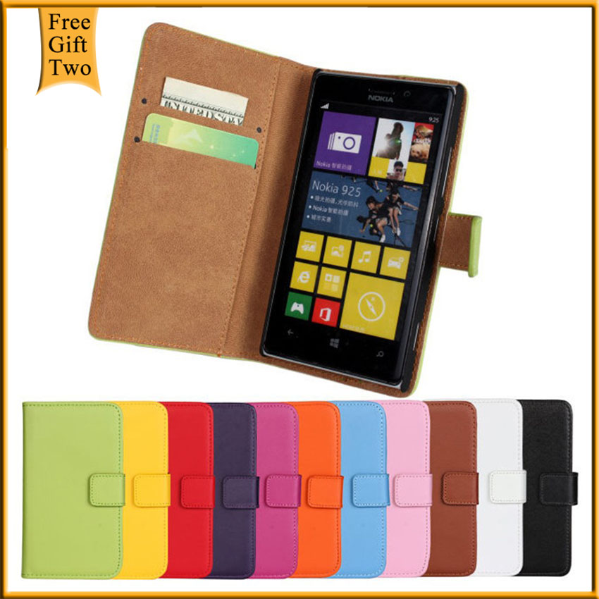 Luxury Genuine Leather Flip Cases For Nokia Lumia 925 Retro Stand Book Style Wallet For Nokia Lumia 925 Phone Cover Shell Bags(China (Mainland))